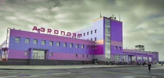 ByggnadsAlykel flygplats till Norilsk Arkivbilder
