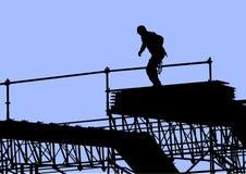 byggnadsarbetare stock illustrationer