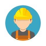 Byggnadsarbetare byggmästaresymbol som isoleras på bakgrund arbetare vektor illustrationer