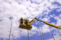 Byggnadsarbetarear Fotografering för Bildbyråer