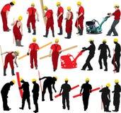 byggnadsarbetarear vektor illustrationer