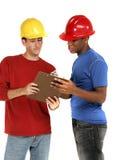 byggnadsarbetarear Arkivbilder