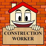 ByggnadsarbetareShows Building Laborer 3d illustration vektor illustrationer