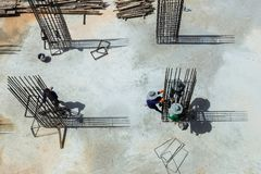 Byggnadsarbetarestålram Arkivfoton