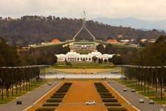 byggnadscanberra parlament Arkivbilder