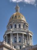 byggnadscapitoldenver kupol Arkivbild