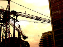 byggnadscarperssky Arkivfoto