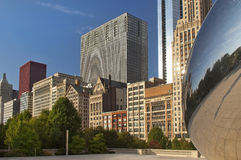 byggnadschicago hög stigning Arkivbild