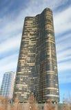 byggnadschicago hög stigning royaltyfri foto