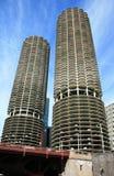 byggnadschicago hög stigning arkivbilder