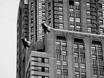 byggnadschrysler facade Arkivbilder