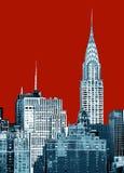 byggnadschrysler stad New York arkivbild