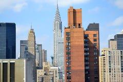 byggnadschrysler stad New York Royaltyfri Foto