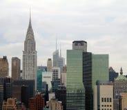 byggnadschrysler stad New York Royaltyfria Foton