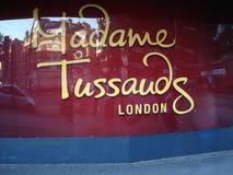Byggnadsdetaljen av madamen Tussauds i London royaltyfri foto