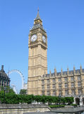 byggnadsengland london parlament uk Royaltyfri Bild