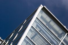 byggnadsexponeringsglasöverkant Arkivfoto