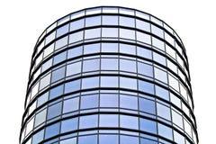 byggnadsexponeringsglas gjorde modernt kontorsstål Royaltyfria Bilder