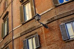 Byggnadsfasad, Rome, Italien Royaltyfri Foto