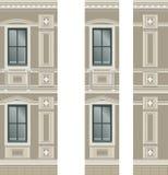 Byggnadsfasaddelar Arkivbilder