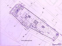 byggnadshotellplan Royaltyfri Fotografi