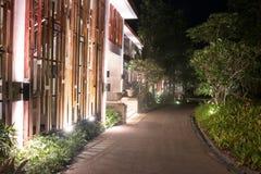 ByggnadshotellThailand semesterort på khaoyaien Royaltyfri Bild