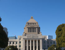 byggnadsjapan parlament tokyo Arkivfoton