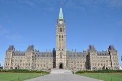 byggnadsKanada ottawa parlament Royaltyfria Bilder