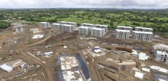 Byggnadskonstruktion i det Panama landskapet royaltyfria foton