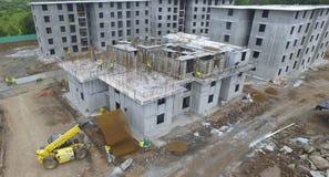 Byggnadskonstruktion i Panama arkivbild