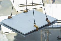 Byggnadskonstruktion med betongväggar Fotografering för Bildbyråer