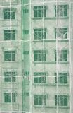 byggnadskonstruktion under vertical Arkivbilder
