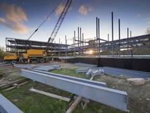 Byggnadskonstruktionsplats Arkivfoto