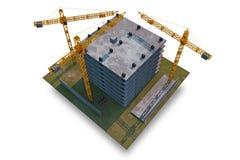Byggnadskonstruktionsplats Arkivbild