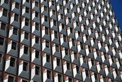 byggnadskontorsfönster Arkivbild