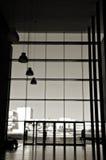 byggnadskontorssilhouette Royaltyfri Bild