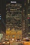 byggnadslivstid mötte New York Arkivbilder