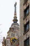 byggnadslomonosovhuvudmoscow delstatsuniversitet Ryssland Arkivbilder