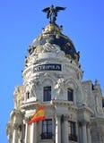 byggnadsmadrid metropolis spain Royaltyfri Bild
