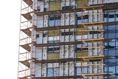 byggnadsmaterial till byggnadsställninglokal Royaltyfri Foto