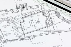 byggnadsplan Arkivbild