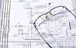 Byggnadsplanet, exponeringsglas Royaltyfria Bilder