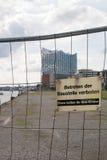 Byggnadsplats i Hamburg Arkivbild