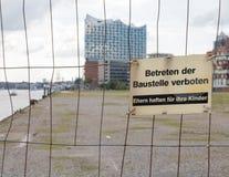 Byggnadsplats i Hamburg Royaltyfria Foton