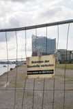 Byggnadsplats i Hamburg Royaltyfria Bilder