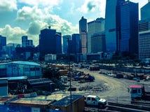 Byggnadsplats i HK Royaltyfri Foto