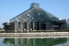 byggnadsporslinexponeringsglas Arkivbild