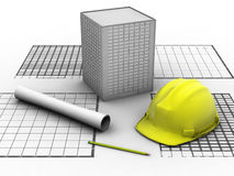 byggnadsprojekt Arkivbild