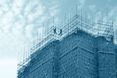 byggnadsscaffold arkivfoton