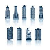 byggnadssilhouettes Arkivbild